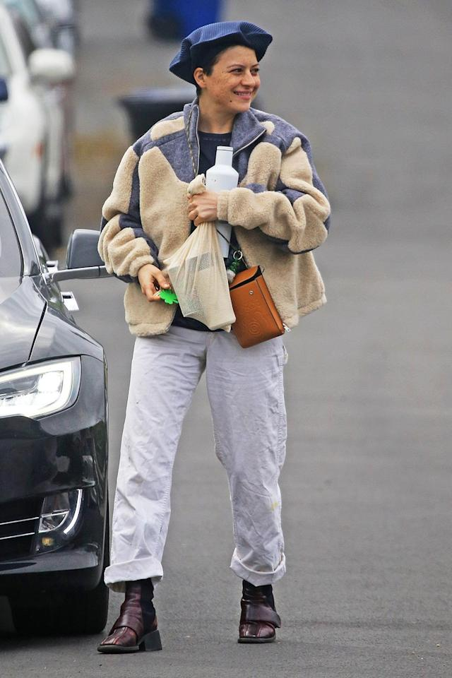 <p>Alia Shawkat looks chic and cozy as she grabs some essentials on Wednesday in L.A.</p>