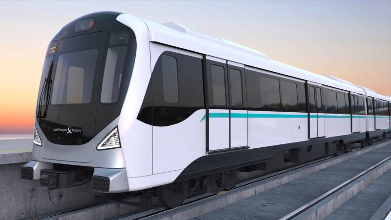 An artist's impression of one of the Jurong Region Line trains. (IMAGE: Facebook / LTA)