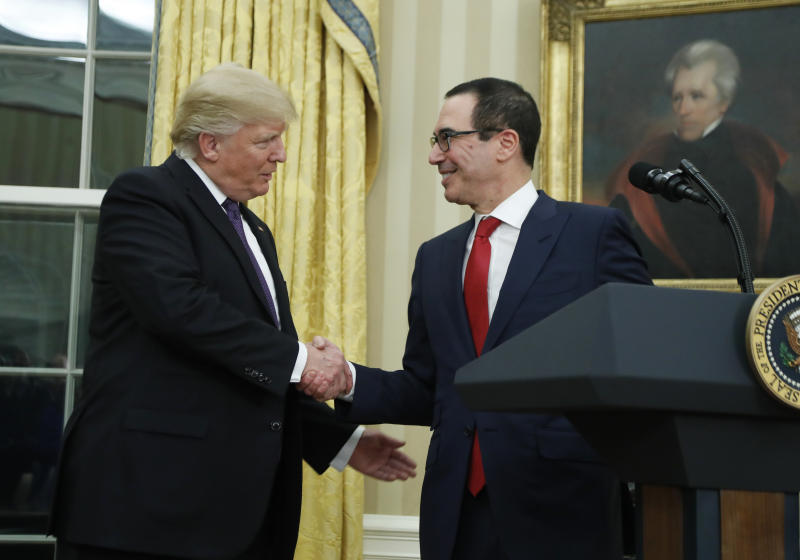 Senate confirms former banker Mnuchin as Treasury secretary
