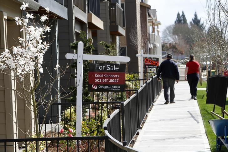Homes are seen for sale in the southwest area of Portland