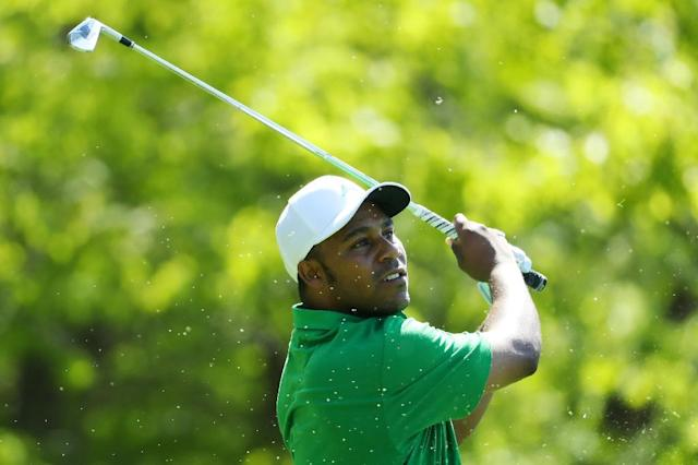 American Harold Varner shared second place after Saturday's third round of the PGA Championship (AFP Photo/Warren Little)
