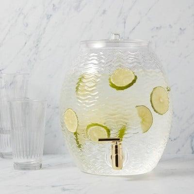 <p>This <span>Plastic Wave Texture Beverage Dispenser</span> ($15) blends function and style pretty well.</p>
