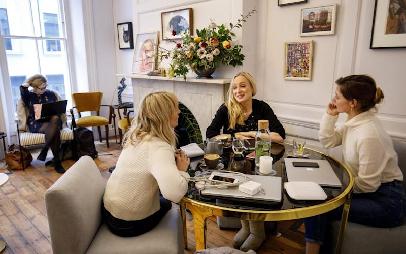 London's women-only private members' club, the AllBright, founded by entrepreneur Debbie Wosskow - AFP