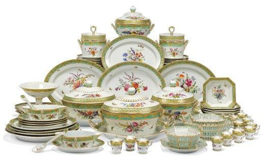 "<div class=""caption""> A full dinner service set to be on offer at Christie's London. </div> <cite class=""credit"">Photo: Courtesy of Christie's London</cite>"