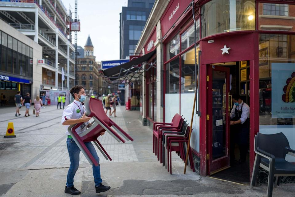 <p>Hospitality has been shut for a month</p> (AFP via Getty Images)