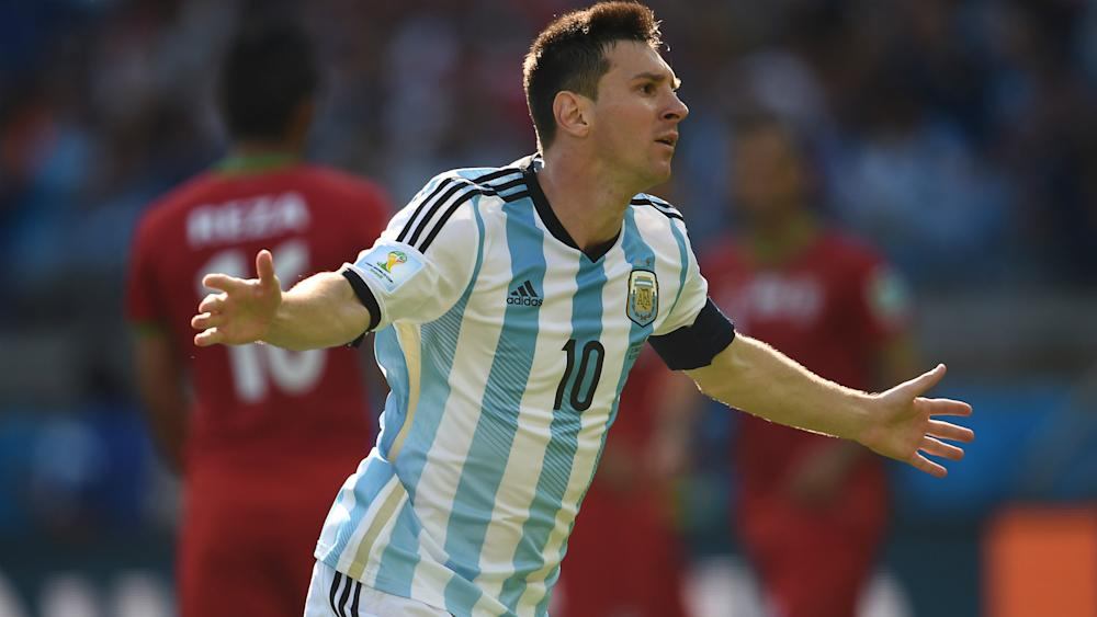 Lionel Messi Argentina Iran World Cup 21062014