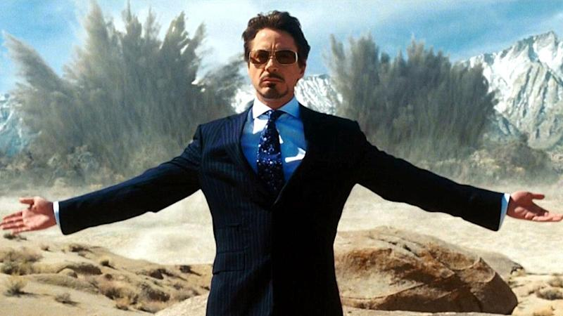 Robert Downey Jr's Tony Stark goes boom (credit: Marvel Studios)