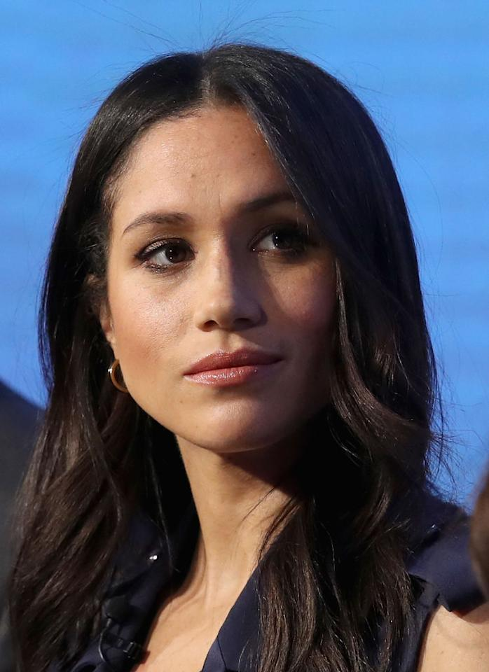 """<p>Meghan Markle, 36, and Prince Harry, 33, are set to get married on May 19 at St George's Chapel in Windsor Castle — and although it's no secret the gorgeous former actress has <a rel=""""nofollow"""" href=""""https://ca.style.yahoo.com/4-unofficial-royal-rules-meghan-035649170.html"""">broken a number of unwritten royal traditions over the course of their year-and-a-half whirlwind courtship</a> — she may have unwittingly broken another, simply by <a rel=""""nofollow"""" href=""""https://ca.style.yahoo.com/meghan-markle-metoo-timesup-114909724.html"""">commenting on the #MeToo and Time's Up movements</a>. <em>(Photo: Getty)</em> </p>"""