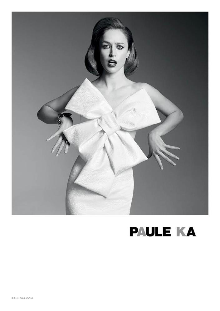 Raquel Zimmermann is the face of the Paule Ka Fall-Winter 2014-2015 campaign.