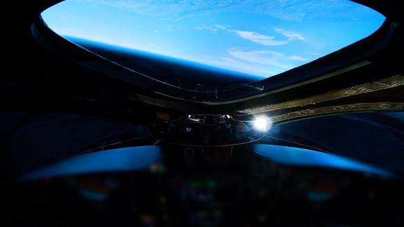 View of Earth from orbiting SpaceShipTwo