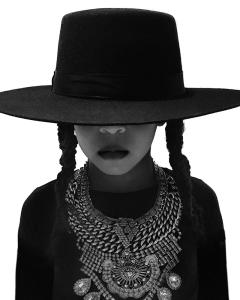 Blue Ivy Carter dressed as Beyoncé