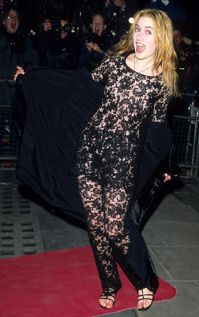 Winslet wears lace in 1996. (Photo: Tom Wargacki/WireImage)