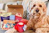 """<p><strong>Pooch Perks</strong></p><p>cratejoy.com</p><p><strong>$19.99</strong></p><p><a href=""""https://go.redirectingat.com?id=74968X1596630&url=https%3A%2F%2Fwww.cratejoy.com%2Fsubscription-box%2Fpooch-perks-monthly-dog-boxes-cool-dog-stuff%2F&sref=https%3A%2F%2Fwww.goodhousekeeping.com%2Flife%2Fpets%2Fg34739804%2Fbest-dog-subscription-boxes%2F"""" rel=""""nofollow noopener"""" target=""""_blank"""" data-ylk=""""slk:Shop Now"""" class=""""link rapid-noclick-resp"""">Shop Now</a></p><p>This cute box that will deliver your pet fun, USA-made toys, treats, and accessories for less than you might spend wandering a nearby big-box store. You can also share your pet's preferences and dietary needs before shipping to customize its contents and send gift boxes for Fido's birthday or holidays.</p><p><strong>starts at $19 monthly</strong></p>"""