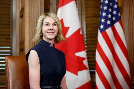 FILE PHOTO: U.S. Ambassador to Canada Kelly Craft takes part in a meeting with Canada's PM Trudeau in Ottawa