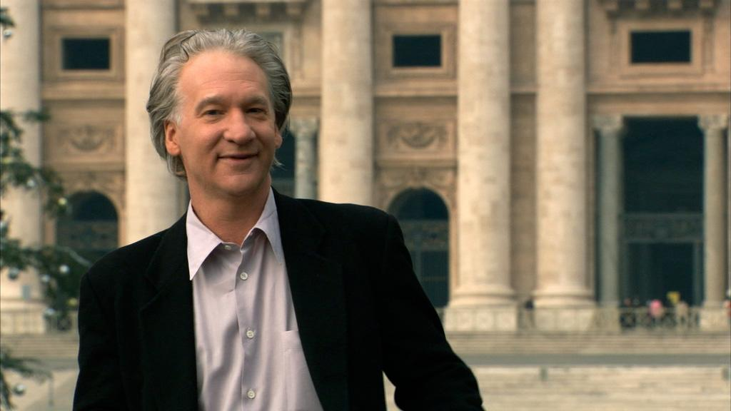 """<a href=""""http://movies.yahoo.com/movie/contributor/1800043889"""">Bill Maher</a> outside the Vatican City in Lionsgate Films' <a href=""""http://movies.yahoo.com/movie/1809842364/info"""">Religulous</a> - 2008"""