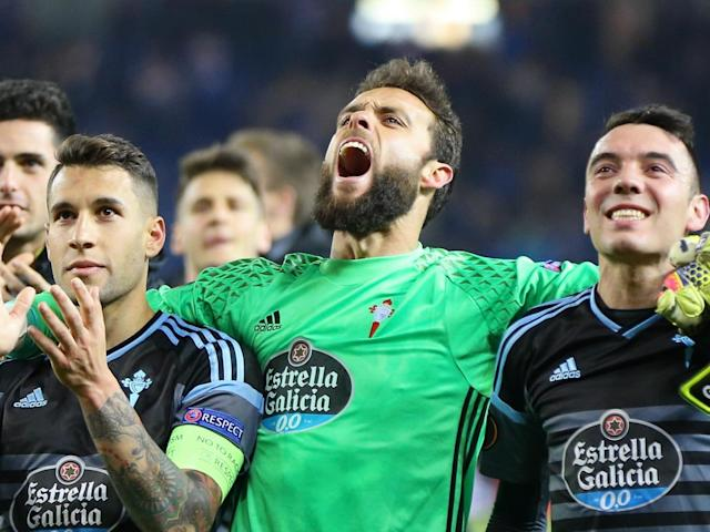 Celta Vigo celebrate reaching the semi-finals (Getty)