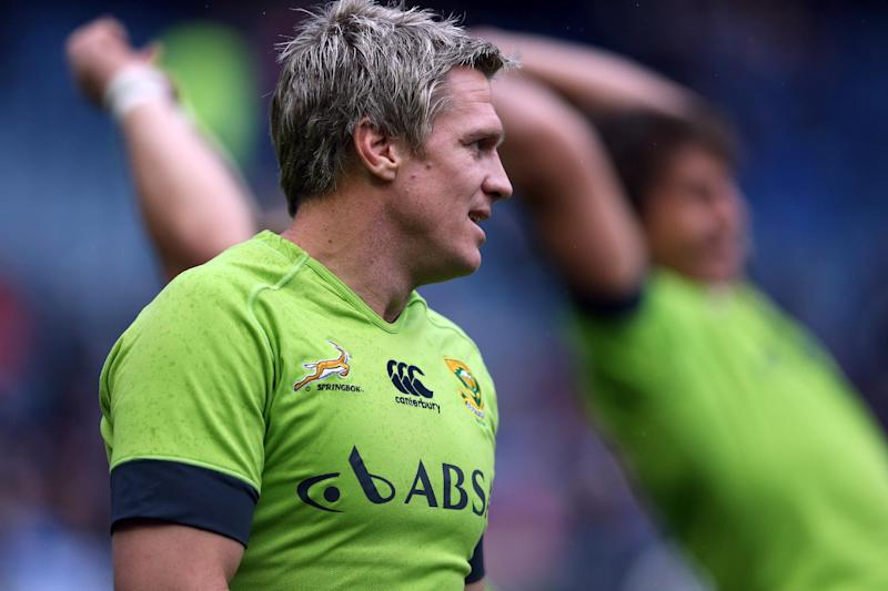 Jean De Villiers says the South African rugby team will pay its respects to fallen sporting stars at a test match against Ireland on Saturday (AFP Photo/Ian Macnicol, Ian Macnicol)