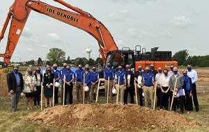 A group of key players, and invited guests involved with the ICB Appleton construction project gathered recently for a ceremonial groundbreaking