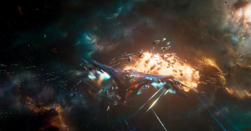 <p>The Guardians' ship, named in honor of Alyssa Milano, is back in action in <i>Vol. 2</i>. (Photo: Marvel) </p>