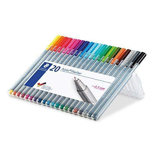 """<p><strong>Staedtler</strong></p><p>amazon.com</p><p><a href=""""https://www.amazon.com/dp/B0007OEE7E?tag=syn-yahoo-20&ascsubtag=%5Bartid%7C10072.g.35227572%5Bsrc%7Cyahoo-us"""" rel=""""nofollow noopener"""" target=""""_blank"""" data-ylk=""""slk:Shop Now"""" class=""""link rapid-noclick-resp"""">Shop Now</a></p><p>Wedding planner Jordan Maney swears by the Staedtler Triplus Fineliner Pens—a pricier alternative to the Stabilo pens, with a slightly finer tip—for her goal-setting journal. She pairs the pens with double-sided <a href=""""https://www.amazon.com/Zebra-Pen-Journaling-Highlighters-Retractable/dp/B07NDZ3T8F/?tag=syn-yahoo-20&ascsubtag=%5Bartid%7C10072.g.35227572%5Bsrc%7Cyahoo-us"""" rel=""""nofollow noopener"""" target=""""_blank"""" data-ylk=""""slk:Zebra Midiliner highlighters"""" class=""""link rapid-noclick-resp"""">Zebra Midiliner highlighters</a>. </p>"""