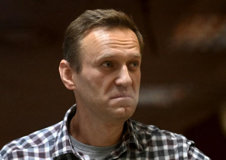 Russian opposition leader Alexei Navalny (pictured February 2021), who was detained in January 2021 and has seen his allies arrested or flee the country, has nonetheless tried to dent the Kremlin's grip on parliament from behind bars (AFP/Kirill KUDRYAVTSEV)