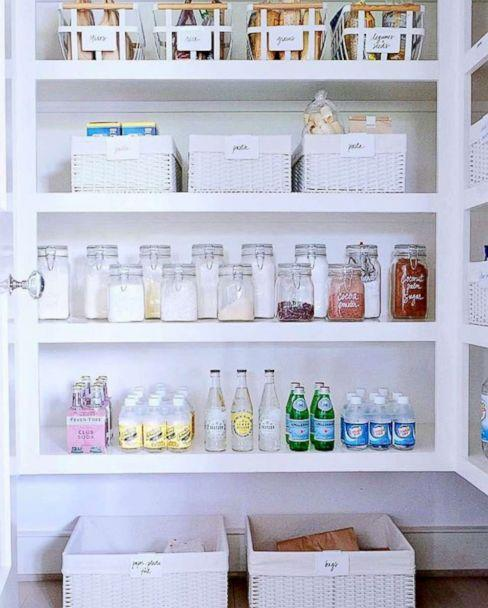 PHOTO: The Home Edit founders organized a pantry in Gwyneth Paltrow's East Hamptons home. (@thehomeedit)