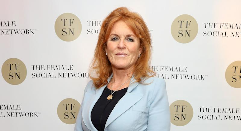 LONDON, ENGLAND - JUNE 26: Sarah Ferguson, Duchess of York attends the UK launch of The Female Social Network at The Ivy on June 26, 2019 in London, England. (Photo by David M. Benett/Dave Benett/Getty Images for The Female Social Network (TFSN))