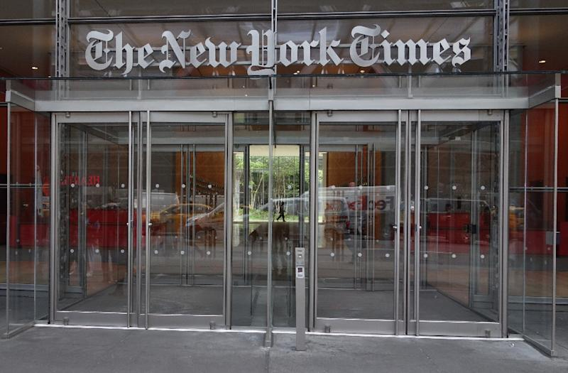 The New York Times says it is working on a weekly television news program to showcase its reporting (AFP Photo/DON EMMERT)