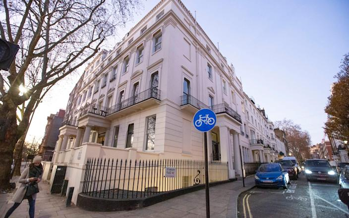 Mcc0092911 . Daily Telegraph DT News Property developer Malik Riaz Hussain has reportedly given up his Grade II listed building 1 Hyde Park Place, valued at £50million and £140million in funds frozen by the National Crime Agency (NCA) . London 3 December 2019