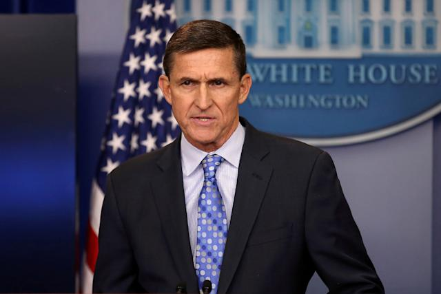 Former national security adviser Michael Flynn was forced to step down in February. (Carlos Barria/Reuters)