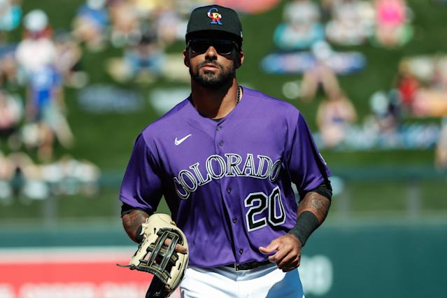 Colorado Rockies center fielder Ian Desmond will not play this season amid the COVID-19 pandemic, massive Black Lives Matter movement. (Kevin Abele/Icon Sportswire/Getty Images)