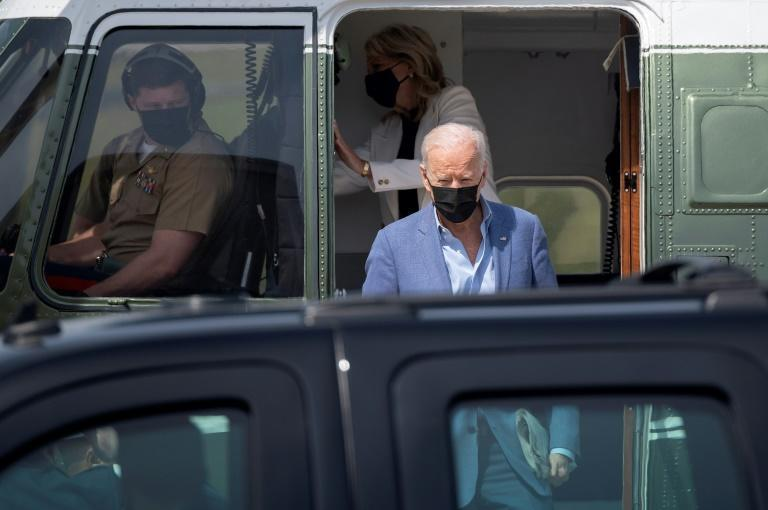 US President Joe Biden arrives in Delaware shortly before issuing a landmark statement recognizing the Armenian genocide