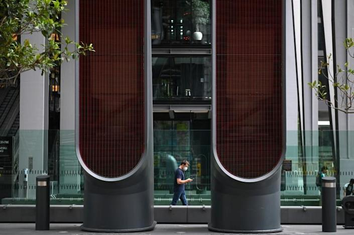 London's City financial district remained largely deserted last week