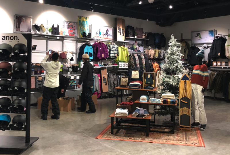 The retail presence is strong and visitors enter and exit through Big SNOW's retail store that sells branded merchandise, outerwear and equipment. (Photo credit: Stephanie Asymkos/Yahoo Finance)
