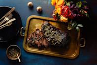"The marinade on this brisket combines walnuts and pomegranate juice for a luxurious sauce. The tartness of the pomegranates helps cut some of the richness of the brisket. <a href=""https://www.epicurious.com/recipes/food/views/brisket-with-pomegranate-walnut-sauce-and-pistachio-gremolata?mbid=synd_yahoo_rss"" rel=""nofollow noopener"" target=""_blank"" data-ylk=""slk:See recipe."" class=""link rapid-noclick-resp"">See recipe.</a>"