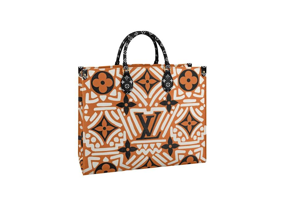 """<p>This bag embodies that same ideal—and it goes effortlessly from weekend to work. </p><p><strong>Louis Vuitton</strong> tote, $2,860, available at select Louis Vuitton stores, 866.VUITTON, <a href=""""https://urldefense.com/v3/__http://www.louisvuitton.com__;!!Ivohdkk!2llrJI3tEFX6SZE5AOJIX17IY-gPuPd2EX-1QL7lijsNEZD231La-CZL6xIO$"""" rel=""""nofollow noopener"""" target=""""_blank"""" data-ylk=""""slk:louisvuitton.com"""" class=""""link rapid-noclick-resp"""">louisvuitton.com</a></p>"""