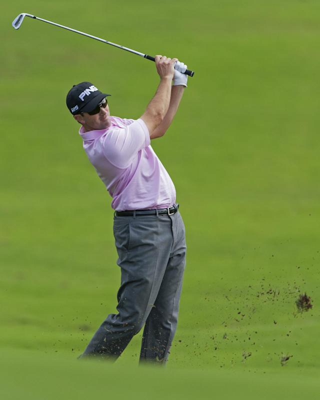 Michael Thompson hits from the 18th fairway during the first round of the Tournament of Champions golf tournament, Friday, Jan. 3, 2014, in Kapalua, Hawaii. (AP Photo/Marco Garcia)