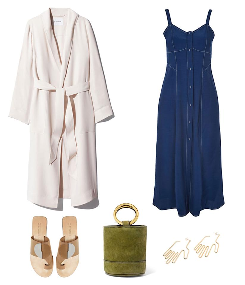 <p>A lightweight coat makes all the difference during a hot summer day and in a cold office interior. Slip it on and off with ease whenever you're feeling a bit chilly or warm. Pair it with a long maxidress and statement accessories for an on-trend summer outfit. </p>