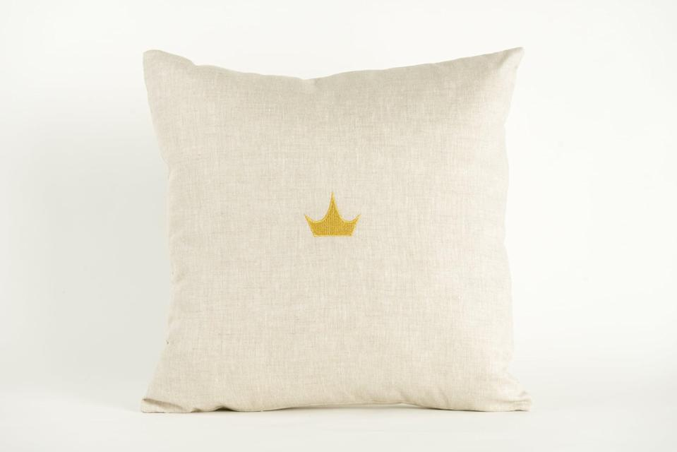 <p>Add just a touch of regal style to your bedroom or couch with this <span>Disney Princess X POPSUGAR Crown Decor Pillow</span> ($20).</p>