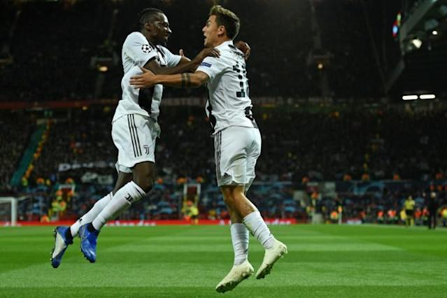Juventus team-mates Blaise Matuidi and Paulo Dybala have tested positive (AFP Photo/Oli SCARFF )