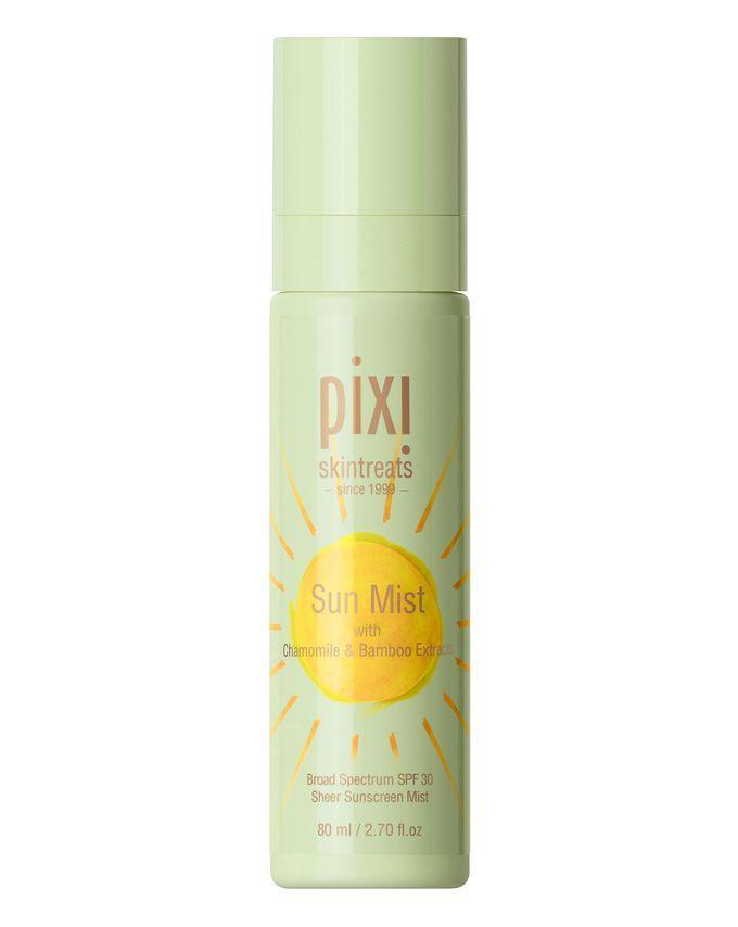 """This has earned rave reviews for its dewy, non-makeup-disrupting finish.<br><br><strong>Pixi</strong> Sun Mist SPF 30, $, available at <a href=""""https://www.cultbeauty.co.uk/pixi-sun-mist.html"""" rel=""""nofollow noopener"""" target=""""_blank"""" data-ylk=""""slk:Cult Beauty"""" class=""""link rapid-noclick-resp"""">Cult Beauty</a>"""
