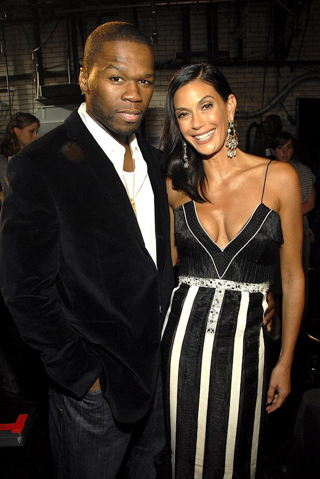 "50 Cent and Teri Hatcher don't make a bad looking couple. Kevin Mazur/<a href=""http://www.wireimage.com"" target=""new"">WireImage.com</a> - September 6, 2007"