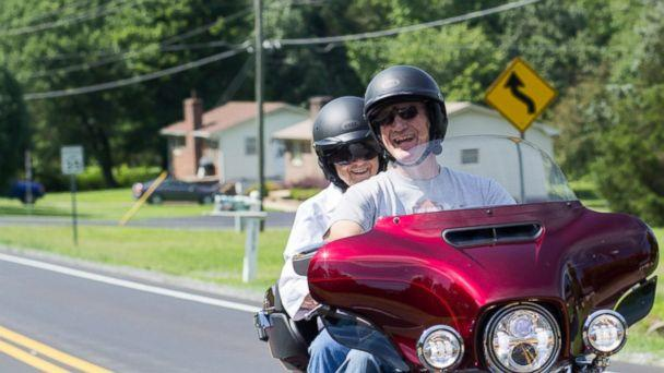 PHOTO: Mildred Garrison, 93, of Reidsville, North Carolina, fulfilled her lifelong dream of riding a Harley-Davidson motorcycle on June 24. (Morgan Cates/Cates Photography)