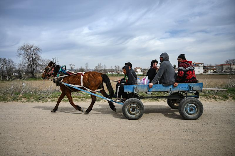 Image: Refugees at the Turkey-Greece border (Ozan Kose / AFP - Getty Images file)