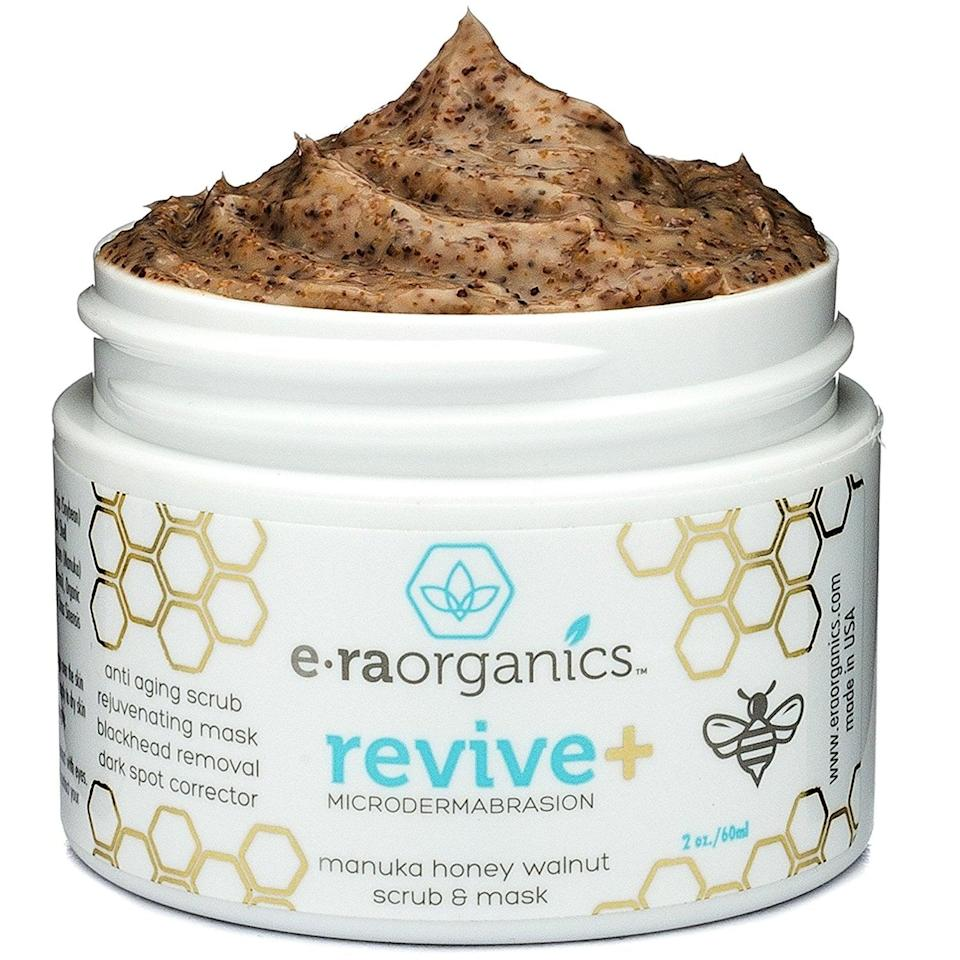 <p>Bid good riddance to dull-looking skin with this <span>E-Ra Organics Revive Microdermabrasion</span> ($15, originally $30) face scrub that exfoliates thoroughly but still feels gentle. Powered by mannuka honey and walnut, this formula can also be used as a mask to fight acne scars and other imperfections. </p>