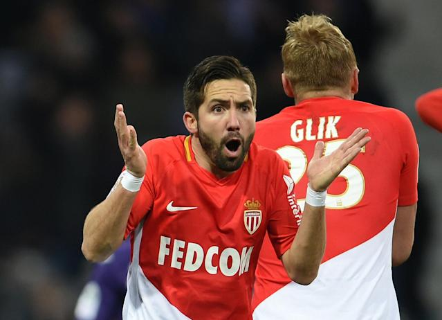 Soccer Football - Ligue 1 - Toulouse vs AS Monaco - Stadium Municipal de Toulouse, Toulouse, France - February 24, 2018 Monaco's Joao Moutinho reacts REUTERS/Fred Lancelot