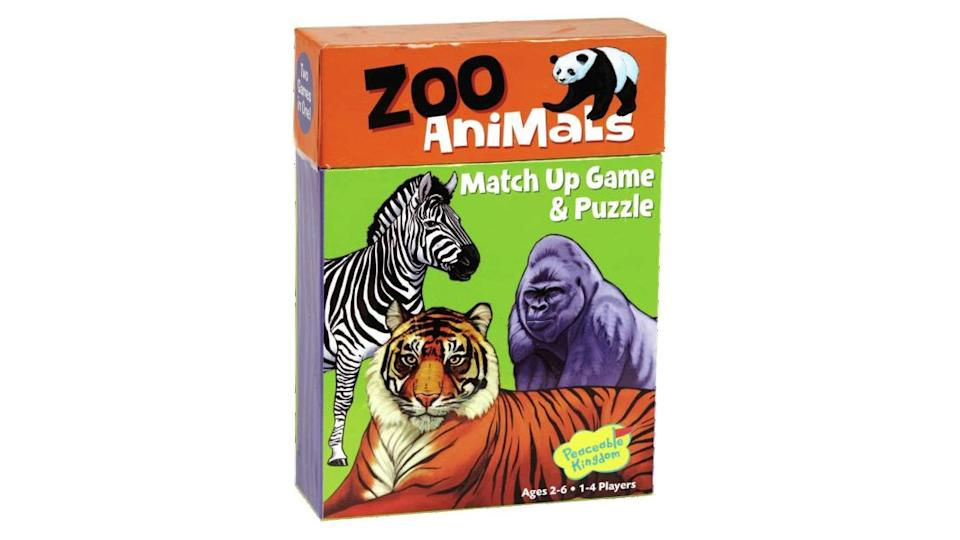 "<p>Peaceable Kingdom Zoo Animal Matching Game</p><div class=""cnn--image__credit""><em><small>Credit: CNN</small></em></div>"