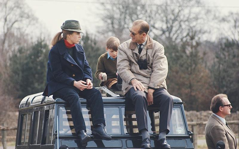 With her father, the Duke of Edinburgh, in 1980 - Serge Lemoine/Getty Images