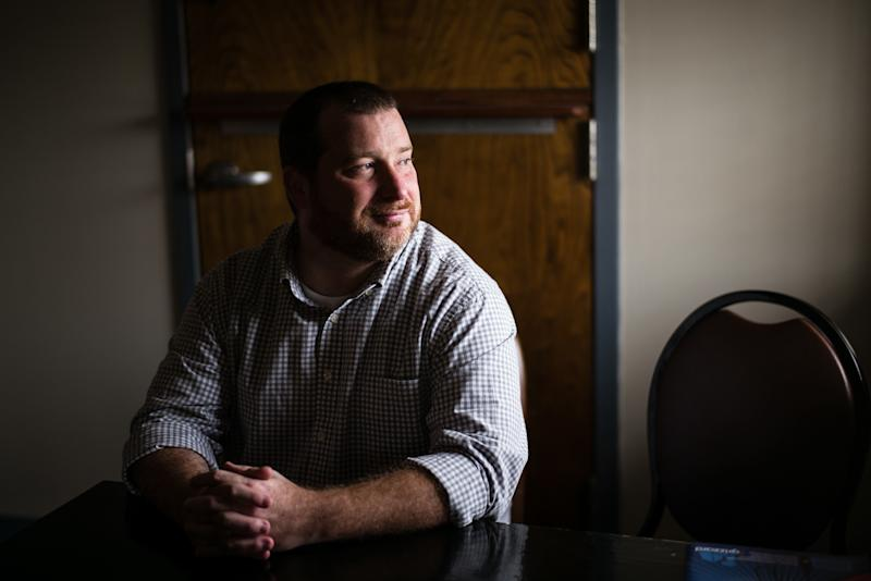 "Brandon Lackey is chief program officer at The Foundry Ministries, a Christian nonprofit that provides ""rescue, recovery and re-entry"" programs for people recovering from substance abuse and living with mental illness. (Bob Miller for HuffPost)"