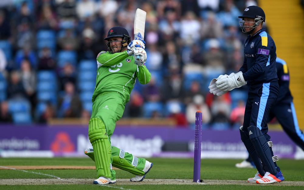 Lancashire captain Liam Livingstone made 32 in the losing cause - Credit: Gareth Copley/Getty Images